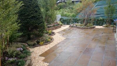 テラス、庭つくり、外構工事、ガーデン、ガーデニング