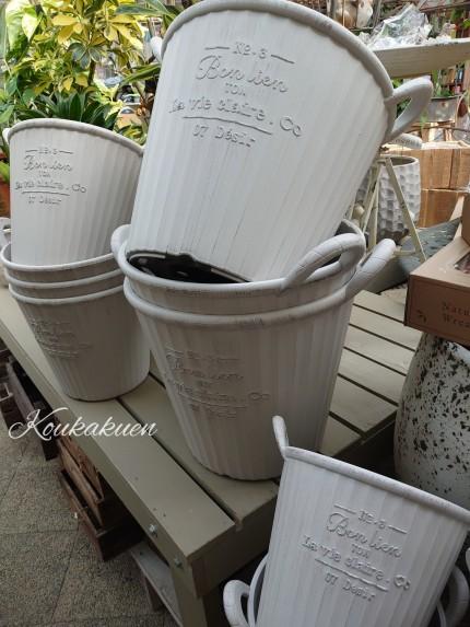 プラスチック製の鉢もデザイン豊か。