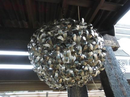 飯田市庭つくり、オシャレな照明、ライト