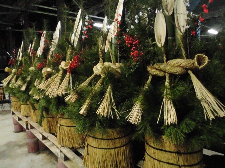 お正月に飾る門松、門松飾るなら、チョークアート、アニースローンチョークペイント、ワークショップ、飯田市で体験できるワークショップ、飯田市庭つくり、外構工事、ガ