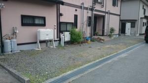 駐車場 before