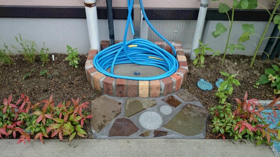 水道まわり、飯田市庭つくり、外構工事、ガーデン、ガーデニング