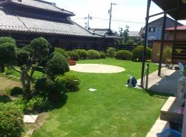 芝生、飯田市庭つくり、外構工事、ガーデン