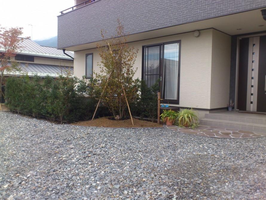ウッドデッキ施工、飯田市庭つくり、外構工事、ガーデン